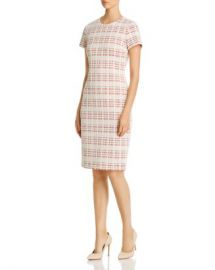 BOSS Decka Plaid Sheath Dress Women - Bloomingdale s at Bloomingdales
