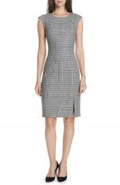 BOSS Deoboa Glen Plaid Sheath Dress   Nordstrom at Nordstrom