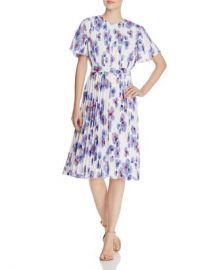 BOSS Diplissee Pleated Floral-Print Dress Women - Bloomingdale s at Bloomingdales