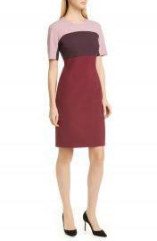 BOSS Donena Colorblock Short Sleeve Sheath Dress   Nordstrom at Nordstrom