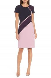 BOSS Dukatia Colorblock Sheath Dress at Nordstrom
