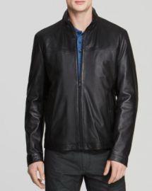BOSS HUGO BOSS Nilas Leather Jacket at Bloomingdales