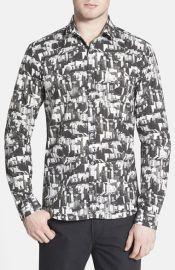 BOSS HUGO BOSS and39Ero 3 - City Printand39 Slim Fit Sport Shirt at Nordstrom
