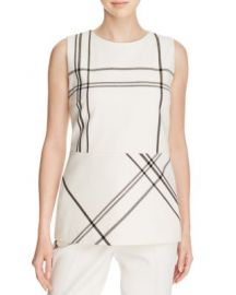 BOSS Iamma Plaid Top at Bloomingdales