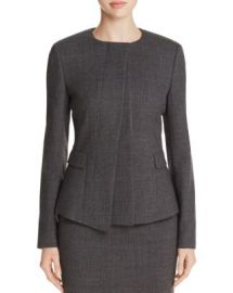 BOSS Jadela Asymmetric Wool Jacket at Bloomingdales
