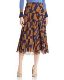 BOSS Matara Geo Print Pleated Skirt Women - Bloomingdale s at Bloomingdales