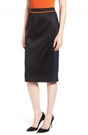 BOSS Vartona Piped Pencil Skirt at Nordstrom