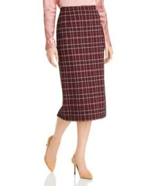BOSS Vecka Plaid Pencil Skirt Women - Bloomingdale s at Bloomingdales