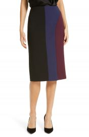 BOSS Velivia Colorblock Pencil Skirt   Nordstrom at Nordstrom