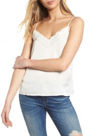 BP  Lace Trim Satin Camisole Top   Nordstrom at Nordstrom