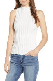 BP  Shadow Rib Mock Neck Tank  Regular  amp  Plus Size    Nordstrom at Nordstrom
