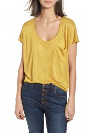 BP  Slub Knit Tee yellow at Nordstrom