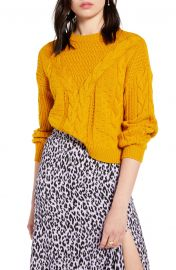 BP  x Claudia Sulewski Cable Sweater  Regular  amp  Plus Size    Nordstrom at Nordstrom