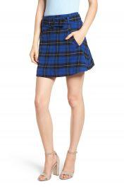BP  Belted Plaid Skirt  Regular  amp  Plus Size    Nordstrom at Nordstrom