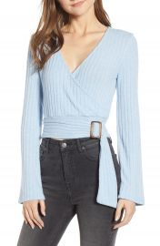 BP  Belted Wrap Top  Regular  amp  Plus Size    Nordstrom at Nordstrom