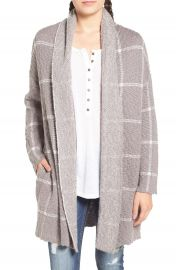 BP  Oversize Windowpane Cardigan at Nordstrom