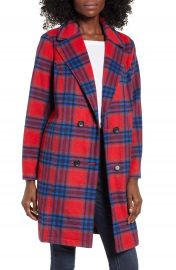 BP  Plaid Double Breasted Coat   Nordstrom at Nordstrom