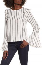 BP  Ruffle Shoulder Flare Cuff Shirt at Nordstrom