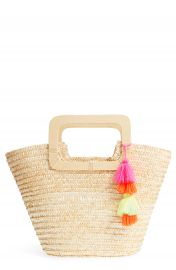 BP  Straw Ring Handle Basket Tote at Nordstrom