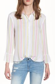 BP  Stripe Bell Sleeve Top at Nordstrom