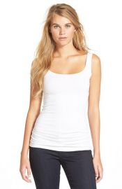 BP Double Scoop Tank in White at Nordstrom