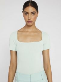 BRYNN SQUARE NECK FITTED TOP at Alice + Olivia