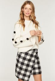 BUFFALO CHECK WRAP SKIRT at Milly