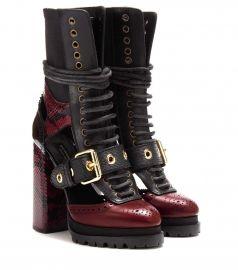 BURBERRY Westmarsh embellished boots at Mytheresa