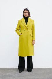 BUTTONED MENSWEAR COAT at Zara