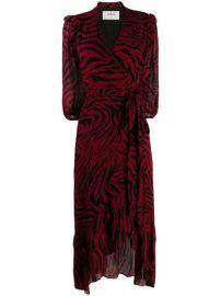 Ba Sh Zebra Print Wrap Dress - Farfetch at Farfetch