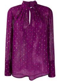 Ba amp Sh paisley print long-sleeve blouse at Farfetch