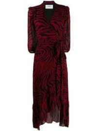 Ba amp Sh zebra print wrap dress at Farfetch