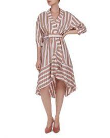 Ba amp sh Nastasia Striped Wrap Dress Women - Bloomingdale s at Bloomingdales