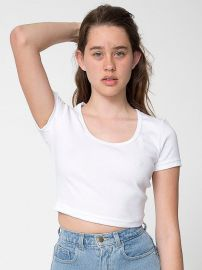 Baby Rib Crop Tee at American Apparel