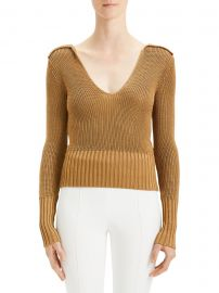 Back Collar V-Neck Pullover Sweater at Saks Fifth Avenue