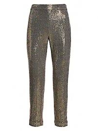 Badgley Mischka - Stretch Sequin Slim Ankle Pants at Saks Fifth Avenue