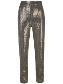 Badgley Mischka Cropped Sequin Embellished Trousers - Farfetch at Farfetch