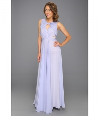 Badgley Mischka Cut-Out Runway Evening Gown Lavender at 6pm