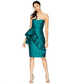 Badgley Mischka Front Ruffle Cocktail Dress at Zappos