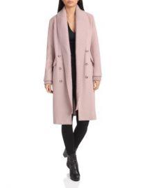 Badgley Mischka Knit Shawl Collar Double-Breasted Coat Women - Bloomingdale s at Bloomingdales