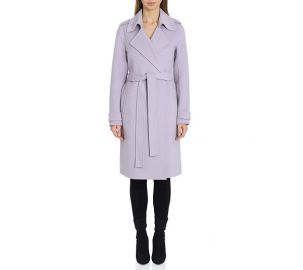 Badglye Mischka Double Face Wool Wrap Coat at QVC
