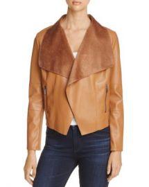 Bagatelle Draped Faux Leather Jacket Women - Bloomingdale s at Bloomingdales