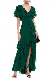 Bagdley Mischka tiered gown at The Outnet
