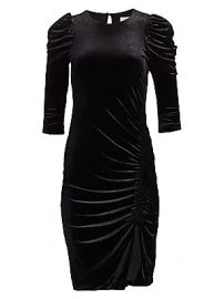 Bailey 44 - Lily Ruched Velvet Dress at Saks Fifth Avenue