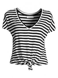 Bailey 44 - Ocelot Tie-Front Striped Tee at Saks Fifth Avenue