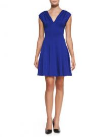 Bailey 44 Biofeedback V-Neck Pleated Dress at Neiman Marcus