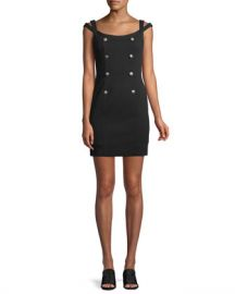 Bailey 44 Commissar Ponte-Knit Sleeveless Mini Dress at Neiman Marcus