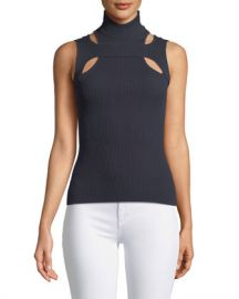 Bailey 44 Exeter Sleeveless Cutout Turtleneck Sweater at Neiman Marcus