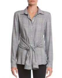 Bailey 44 Hold Me Tight Plaid Tie-Front Shirt Women - Bloomingdale s at Bloomingdales