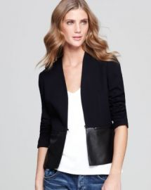 Bailey 44 Jacket - Faux Leather Peplum at Bloomingdales